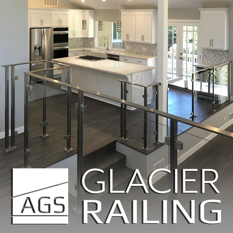 CaroleAnn Graphic Design Ad for AGS Stainless, Glacier Railings.