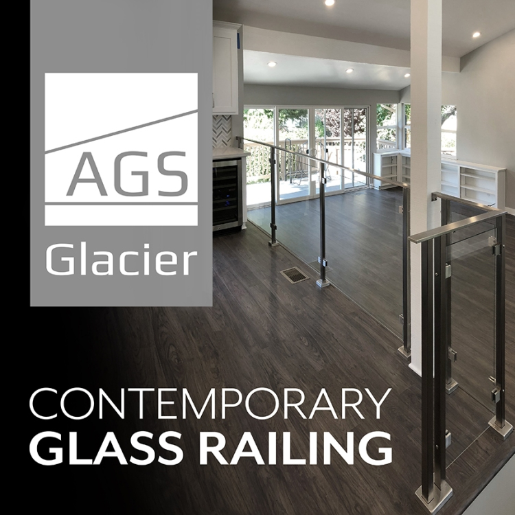 CaroleAnn Graphic Design Ad for AGS Stainless, Glacier Railings